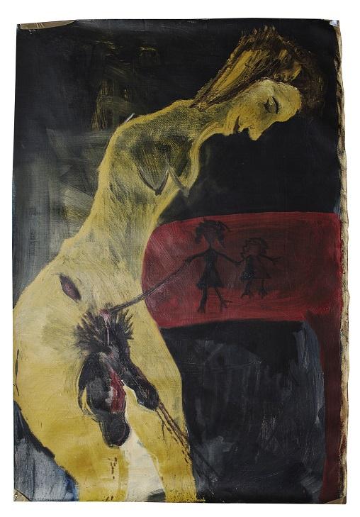 Lina Ghukasyan, MADRE, olio su tela, 2012, cm. 170X100