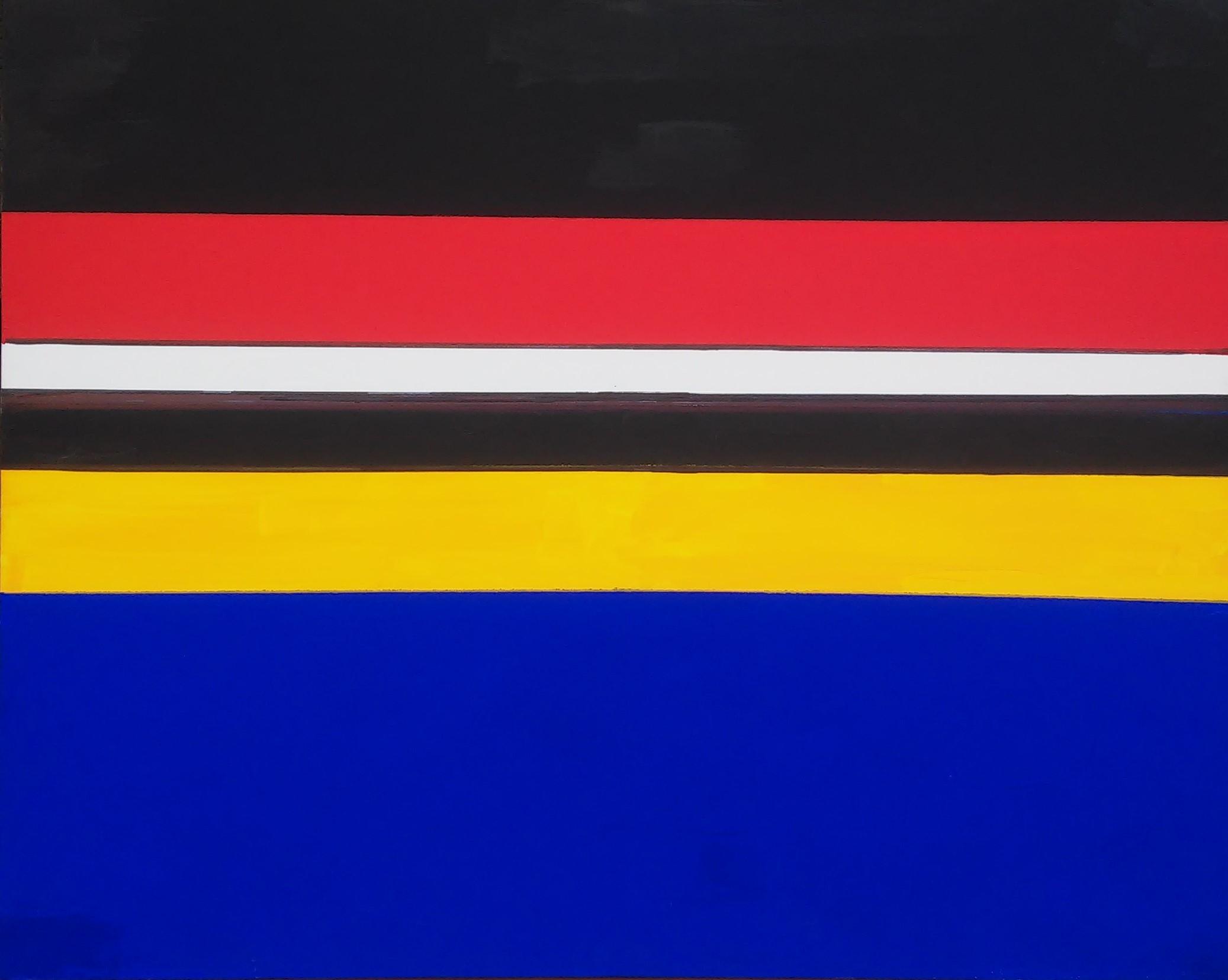 Sequenza plurima a memoria, 2017, acrilico su tela, cm. 80x100